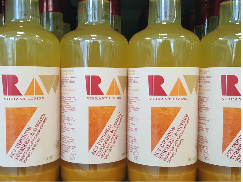 New In: RAW Organic Cider Vinegar with Turmeric and Ginger
