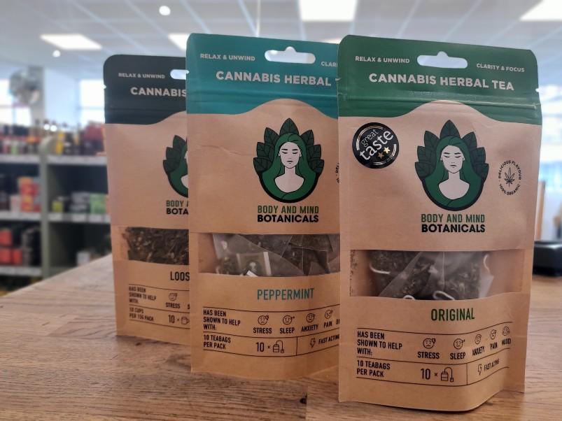 CBD TEA in Loose Leaf, Bags and Peppermint varieties
